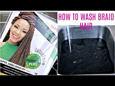 How to Wash Synthetic Hair Braid | Remove Alkaline | JumieAnne