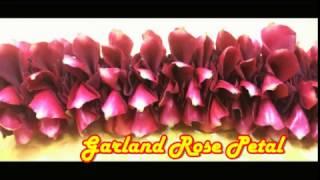 how to make garland rose petalseasy method making garland rose petals