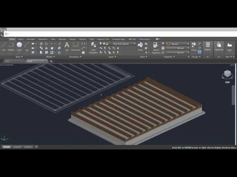 Beginner Tutorial 3 (AutoCAD 2017) - Designing a Shed