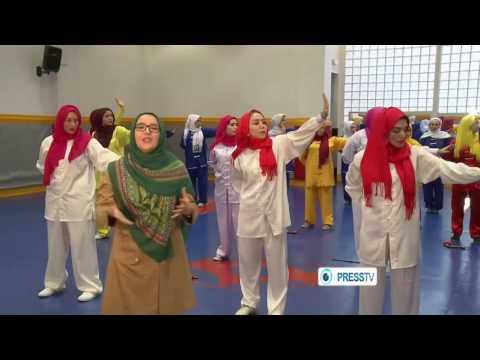 Xxx Mp4 MUSLIM HIJAB GIRLS DOING WUSHU 3gp Sex