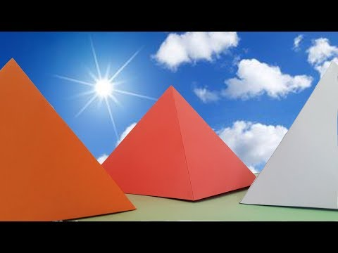 How to make a Pyramid out of Paper?  Easy origami pyramids for beginners making Tutorial- DIY Crafts