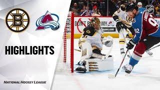 Bruins Avalanche 101019 Highlights