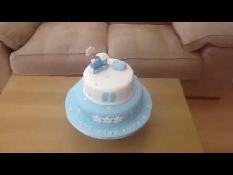 Boy's baby shower cake
