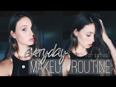 EVERYDAY MAKEUP ROUTINE // school | Tatiana Ringsby