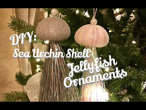 DIY : Sea Urchin Jellyfish Ornament : Beach Room Decor