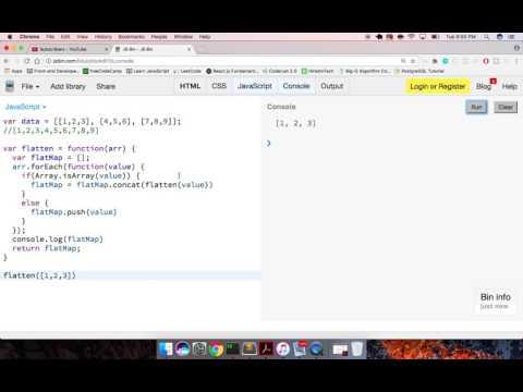 JavaScript Flatten Nested Arrays with Recursion