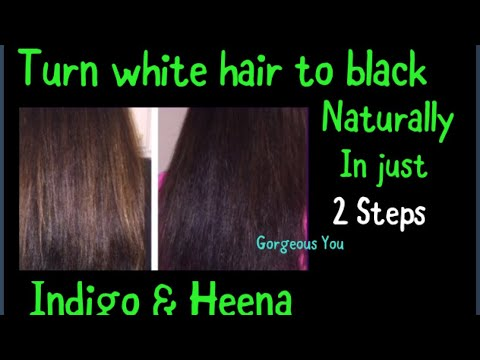 2 Step Heena Indigo Process|Turn white hair to black permanently and naturally with Heena and Indigo