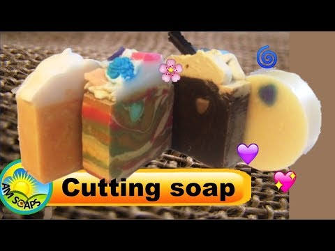 Cutting Four Different Soap Loaves
