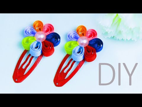 DIY Rainbow hair clip for kids | Hair accessories | Beads art