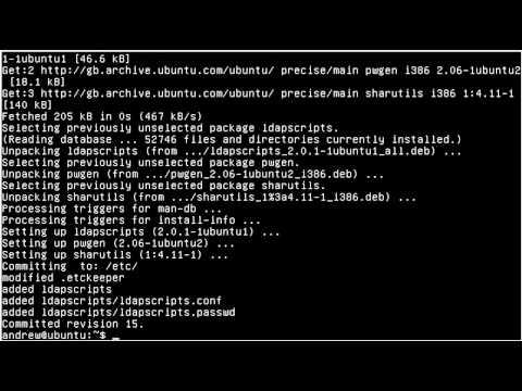 UBUNTU 12.04  Managing openLDAP Users