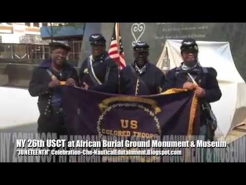NY 26 USCT at AFRICAN BURIAL GROUND JUNETEENTH 2013