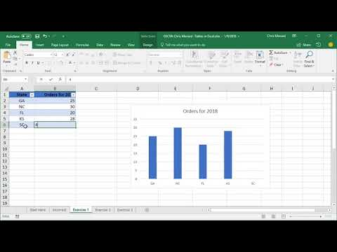 Five Reasons to Use Tables in Excel by Chris Menard - Free Course