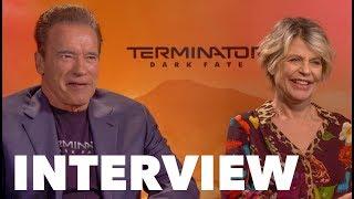 "TERMINATOR Interview: Arnold Schwarzenegger & Linda Hamilton On ""Thumbs Up"" & ""I"