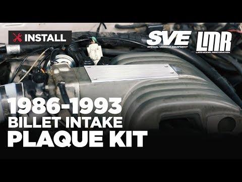 1986-1993 Mustang SVE Billet Upper Intake Plaque - Install & Review