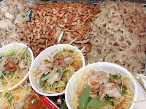 Cambodian street foods at Orussey market in heart beat of Phnom Penh city