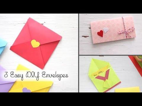 3 Easy DIY Envelopes