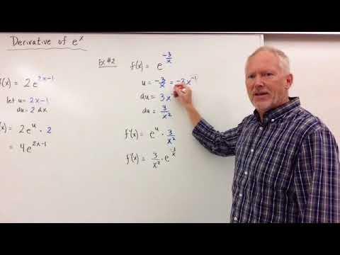 Derivative of e^x and e^u