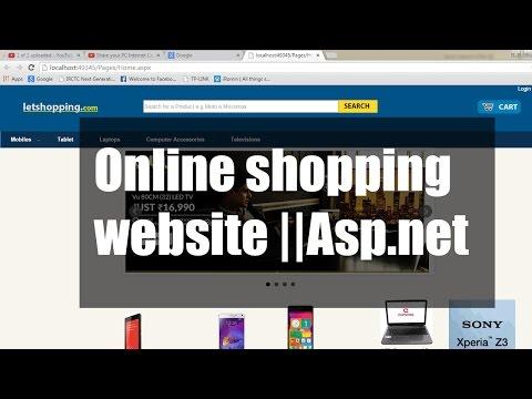 Online shopping website Project in ASP.Net