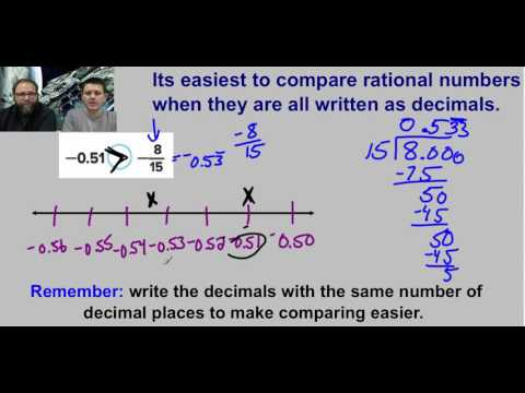 Comparing and Ordering Rational Numbers Lesson   video