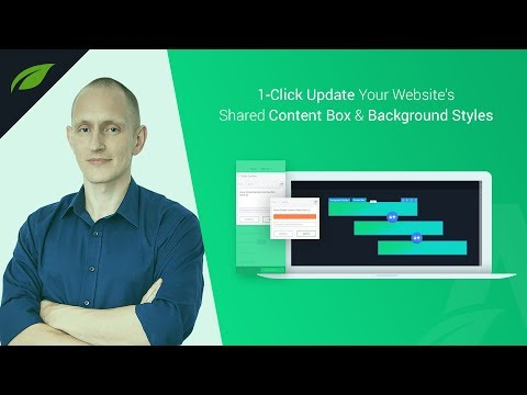 Feature Upgrade: Global Styles for Content Boxes & Background Sections