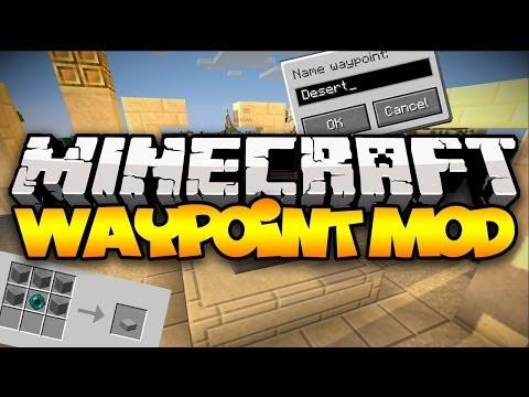 Minecraft: WAYPOINTS! (Teleport Anywhere, Anytime!)   Mod Showcase