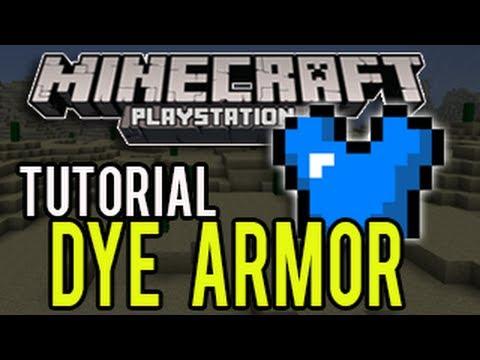 Minecraft PS3 Update 1.04 (TU14) - How To Dye Armor (TUTORIAL)