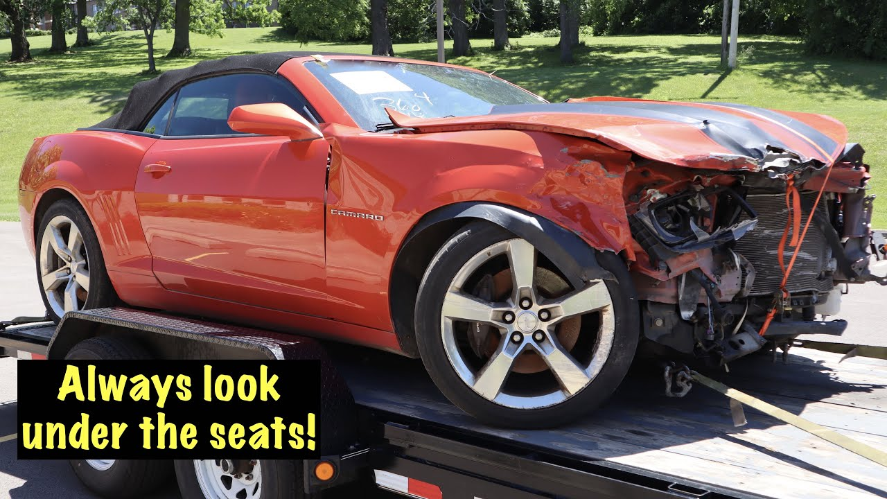 A 2012 Camaro SS auction car with a valuable surprise under the seat