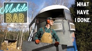 Metalwork for days on this Horse trailer Bar - Mobile Bar Build Ep.6