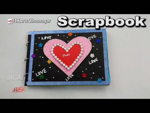 How to make a Scrapbook |  DIY Scrapbook Tutorial |  Valentine's Day Gift Idea | JK Arts 1177