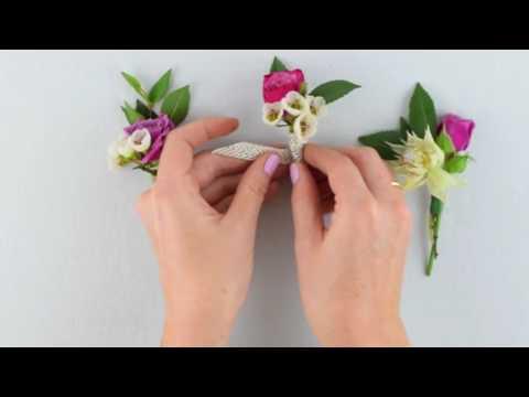 EASY DIY Boutonniere by Flower Moxie  ~SUPER FAST TUTORIAL~