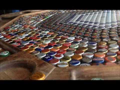 Epoxy resin bottle cap poker table