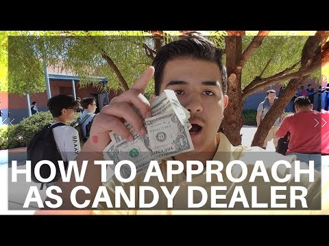 How To Approach People When Selling Candy at School   Candy Dealer Vlog #2   highschool Examples