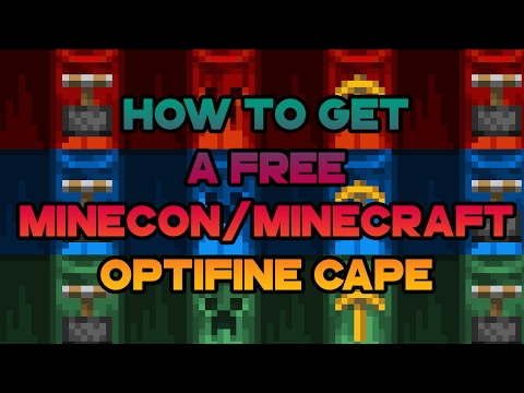 How To Get Minecon/Minecraft Optifine Cape For FREE + NO MODS
