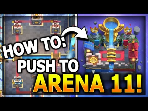 HOW TO GET TO NEW LEGENDARY ARENA 11!! NO LEGENDARY CARDS! Clash Royale Best Arena 10 Deck