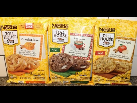 Nestle Toll House: Pumpkin Spice, Hot Cocoa & Harvest Apple Cookies Preparation & Review