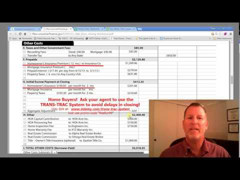 Home Buyer Closing Costs - Homeowners Insurance