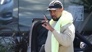 Kanye West Putting In A Long Week At The Office