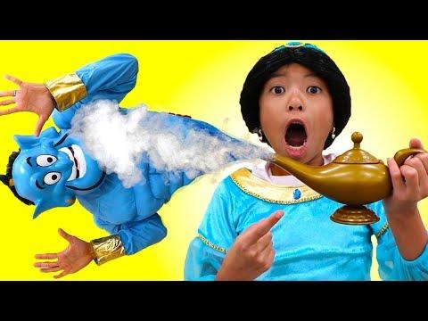 Xxx Mp4 Wendy Pretend Play Jasmine Finding Magic Genie Lamp In Funny Aladdin Movie 3gp Sex