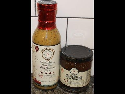 Fischer & Wieser: Fredericksburg Brat Haus Beer Mustard Sauce & Amaretto Peach Pecan Preserves