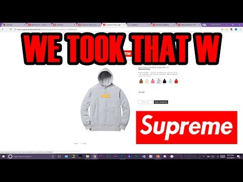 Supreme Box Logo Hoodie Week 16 LIVE COP Needed to Get Help! Hard Lag BUT STILL COOKED! FW 17