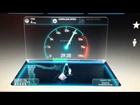Frontier FIOS 30/30 Speedtest