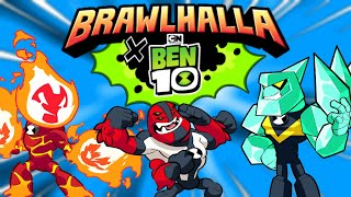 BEN 10 INVADES BRAWLHALLA!!! • 3 Epic Crossover Skins + Game Mode + Podium + MORE!!!