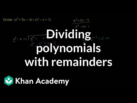 Dividing Polynomials With Remainders Polynomial And Rational Function