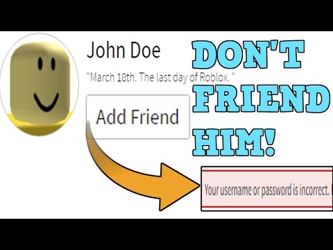 what is john does password for roblox