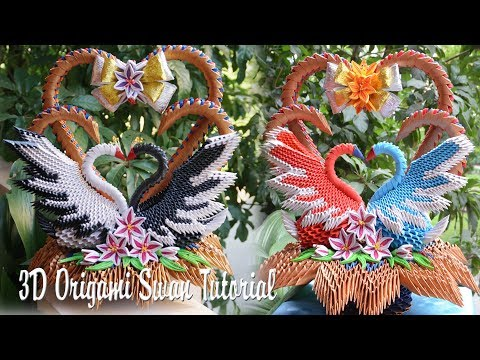 Live: How to Make 3D Origami Wedding Swans | DIY Paper Couple Swans Handmade Decoration