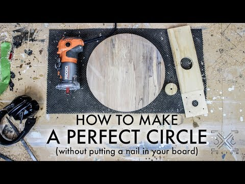 Circle Cutting Jig WITHOUT Putting a Nail in Your Workpiece