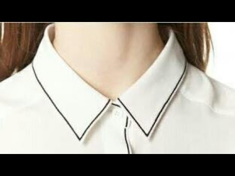Shirt collar neck cutting and stitching