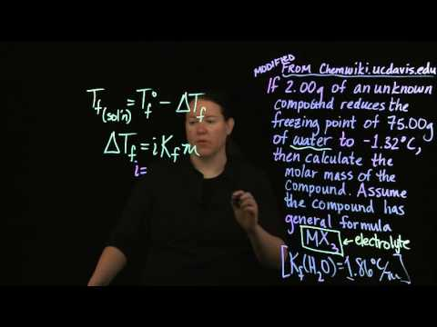 Solution Colligative Properties: Freezing Point Depression Practice