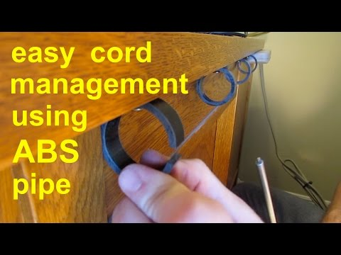 DIY  ●  Simple Cable Cord Management ● tv computer stereo gaming