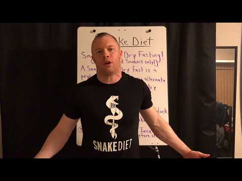 SNAKE JUICE DRY FASTING For EXTREME FAT LOSS & AUTOPHAGY!